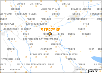 map of Strážske