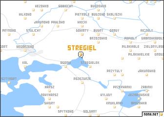 map of Stręgiel
