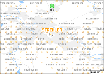 map of Strehlen