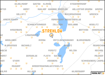 map of Strehlow