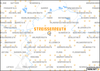 map of Streißenreuth