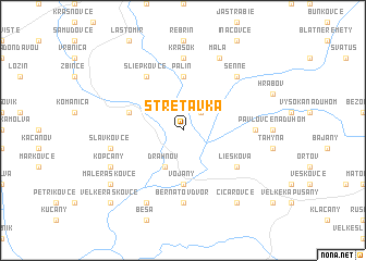 map of Stretavka