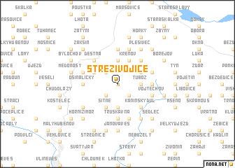 map of Střezivojice