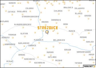 map of Strezovce