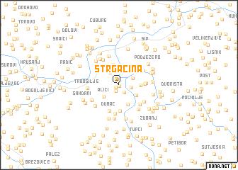 map of Strgačina