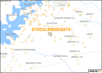map of Strickland Heights