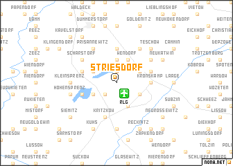 map of Striesdorf