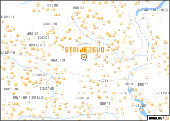 map of Striježevo