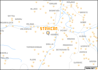 map of Strikçan
