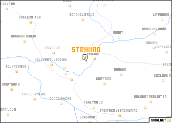 map of Strikino