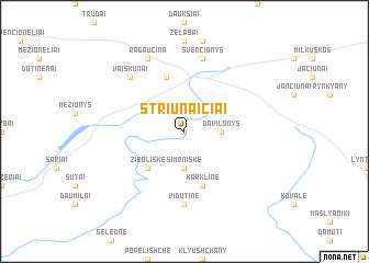 map of Striūnaičiai