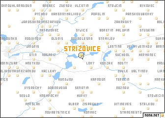map of Střížovice