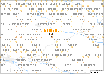 map of Střížov