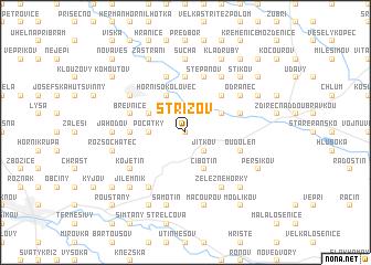 map of Střížov