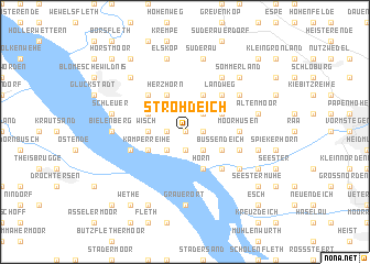 map of Strohdeich