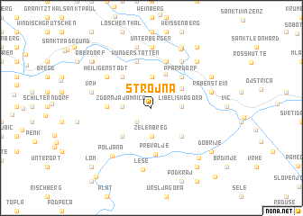 map of Strojna