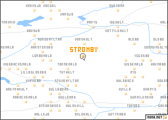 map of Strömby