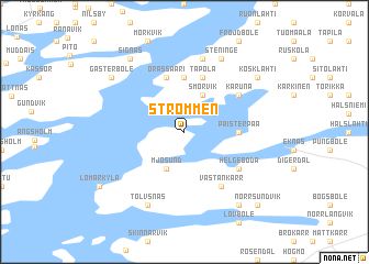 map of Strömmen