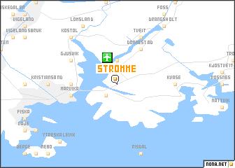 map of Strømme