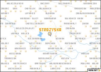 map of Stróżyska
