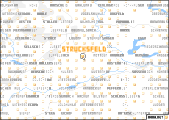 map of Strucksfeld