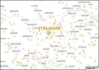 map of Strujevina