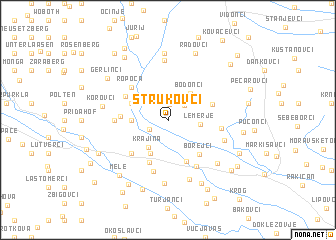map of Strukovci