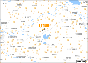 map of Strum