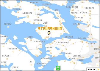 map of Strusshamn