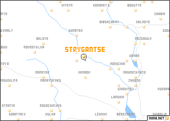map of Strygan'tse