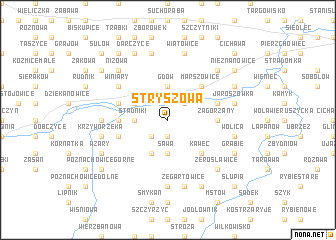 map of Stryszowa