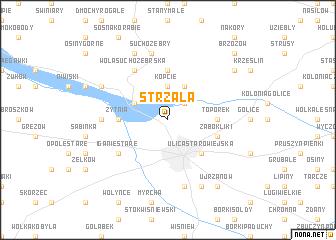 map of Strzała