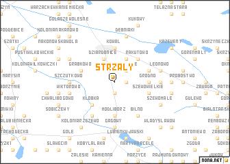 map of Strzały