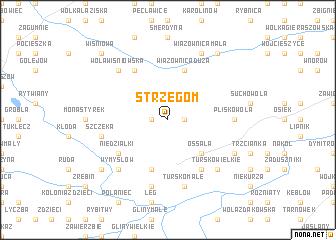 map of Strzegom