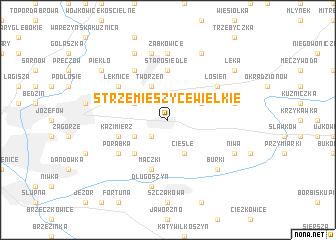 map of Strzemieszyce Wielkie