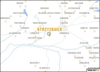 map of Strzyżewice
