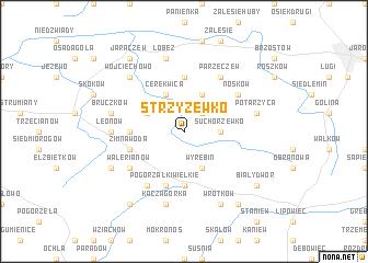 map of Strzyżewko