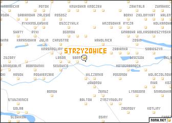 map of Strzyżowice