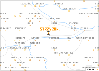 map of Strzyżów