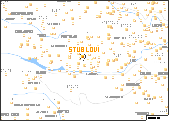 map of Stublovi