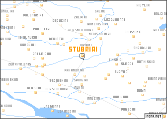 map of Stubriai