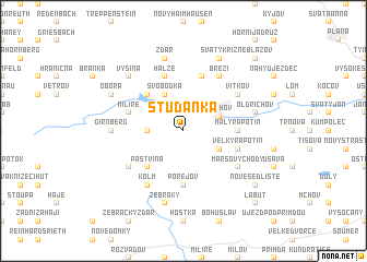 map of Studánka