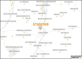 map of Studënka