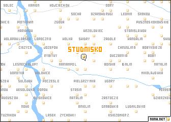 map of Studnisko