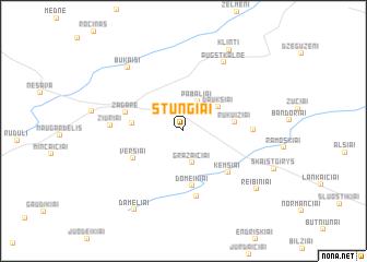 map of Stungiai