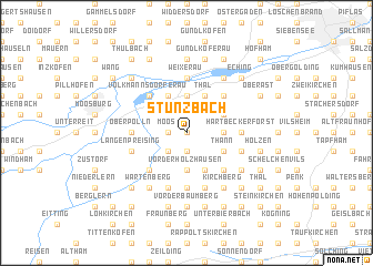 map of Stünzbach