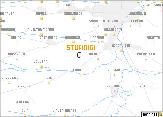 map of Stupinigi