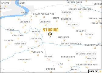 map of Stupino