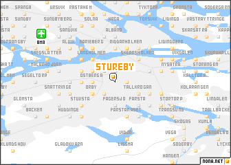 map of Stureby