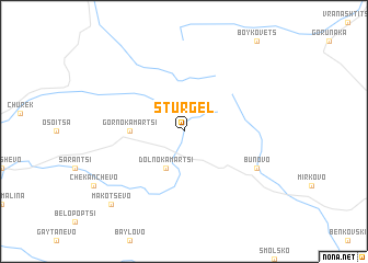 map of Stŭrgel